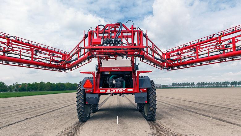 Agrifac horticulture veldspuit met Sentech hall sensoren