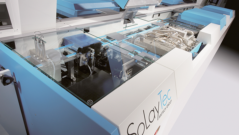 Solaytec atomic layer deposition ALD zonnecelwafer met scopingsensor van Sentech