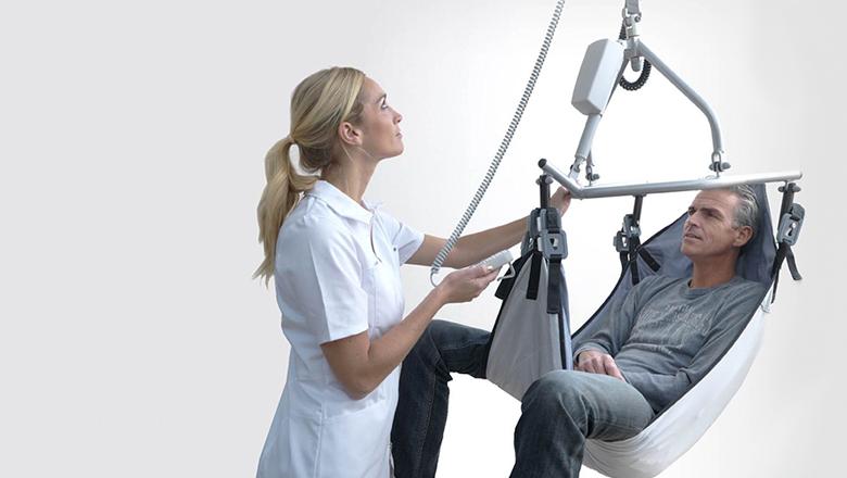 PLS lift- en railsysteem voor patienten met Sentech sensoren