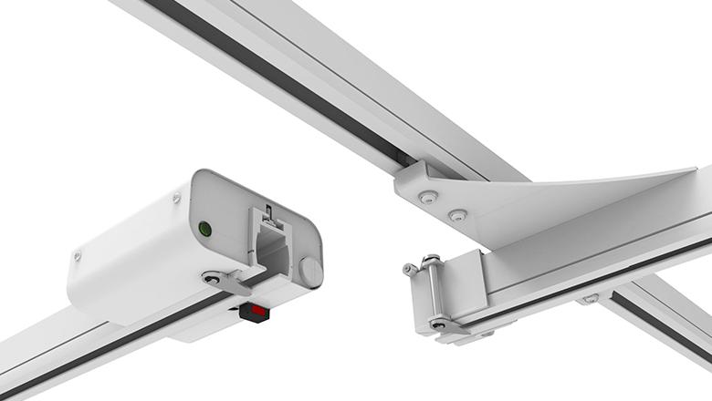 PLS-tilsysteem met hall-sensoren van Sentech