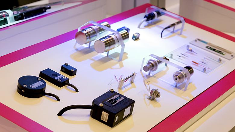 Demopaneel met Sentech-sensoren op de Precisiebeurs 2017