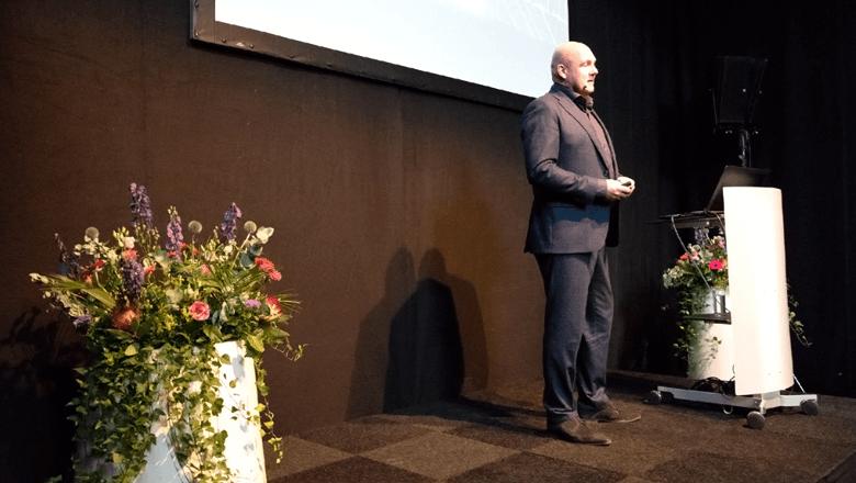 André Kuipers spreekt over ketenintegratie op de Klantendag 2018