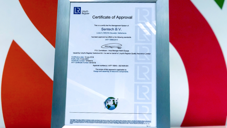 Bij Sentech werken we strikt volgens de kwaliteitsnorm IATF 16949.