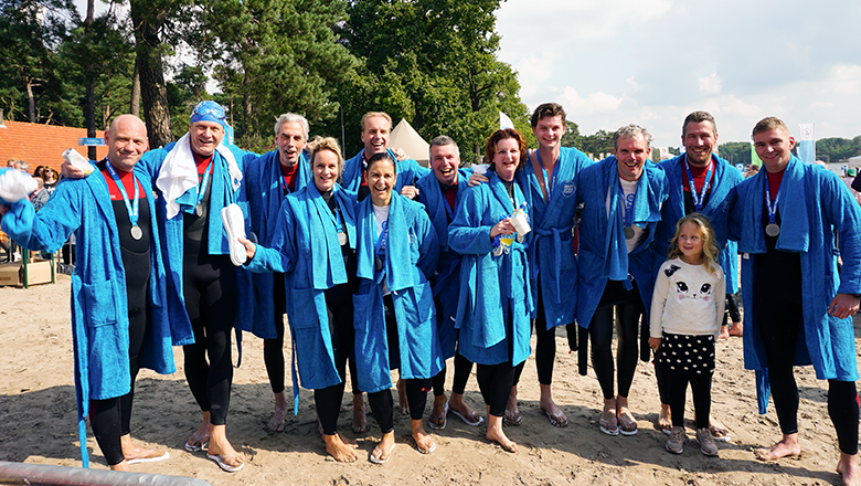 Sentech swim team Swim to Fight Cancer