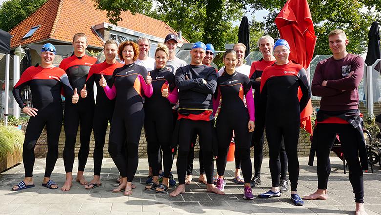 Sentech swim team Swim to Fight Cancer