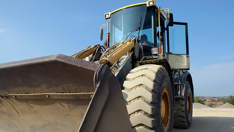 Pressure sensor in bulldozer