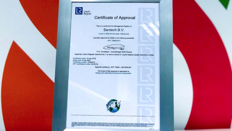 IATF 16949 certificate
