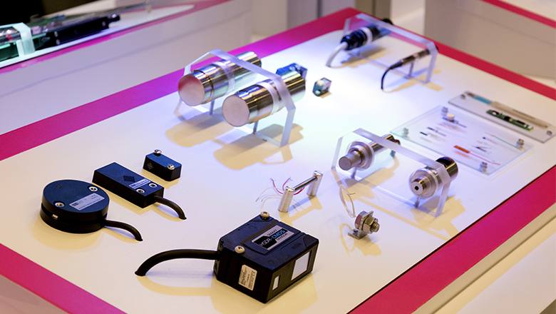 Demo panel with Sentech sensors at Precision Fair 2017