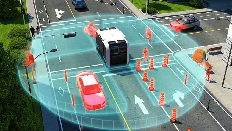 Lidar sensor in self-driving vehicles detects objects