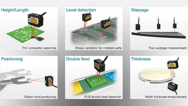 Omron ZX2 measure sensor types