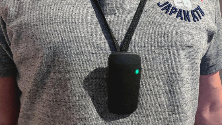 Social Distancing Sensor with keycord